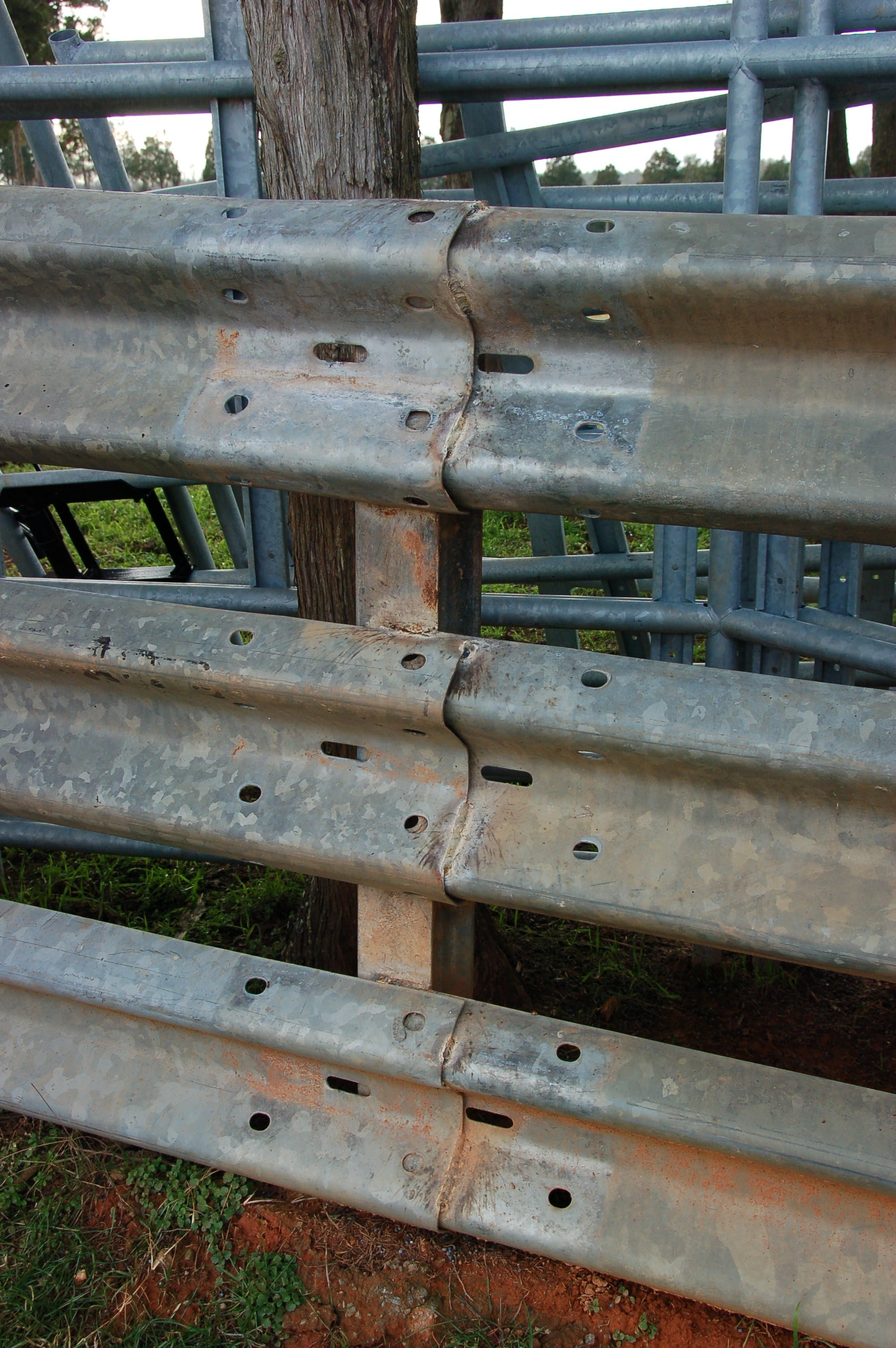 Std Rail Steel Post Weld