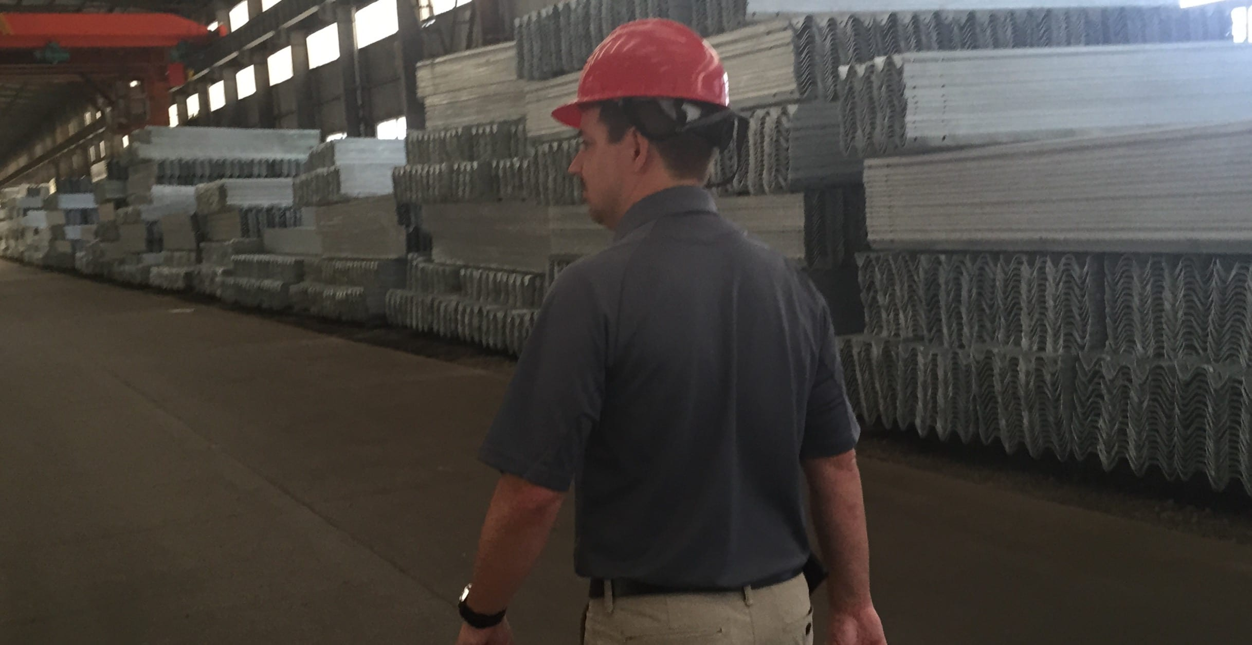 Hundreds of thousands of feet of highway guardrail is making its way to the farm - ready for shipment today
