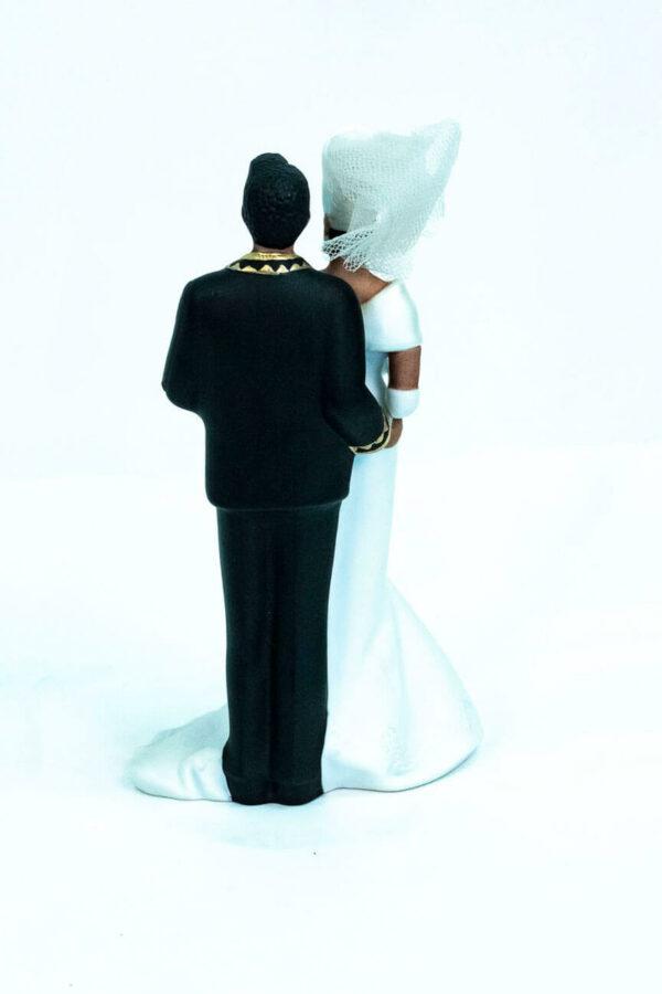 elegant wedding couple figurine, back