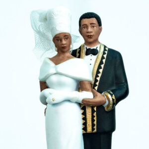 elegant wedding couple figurine, closeup
