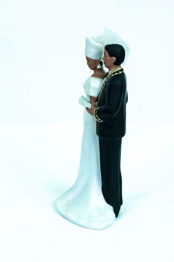 elegant wedding couple figurine, left