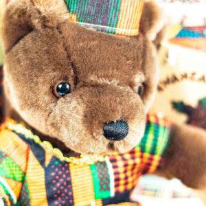 kwanzaa teddy bear, closeup