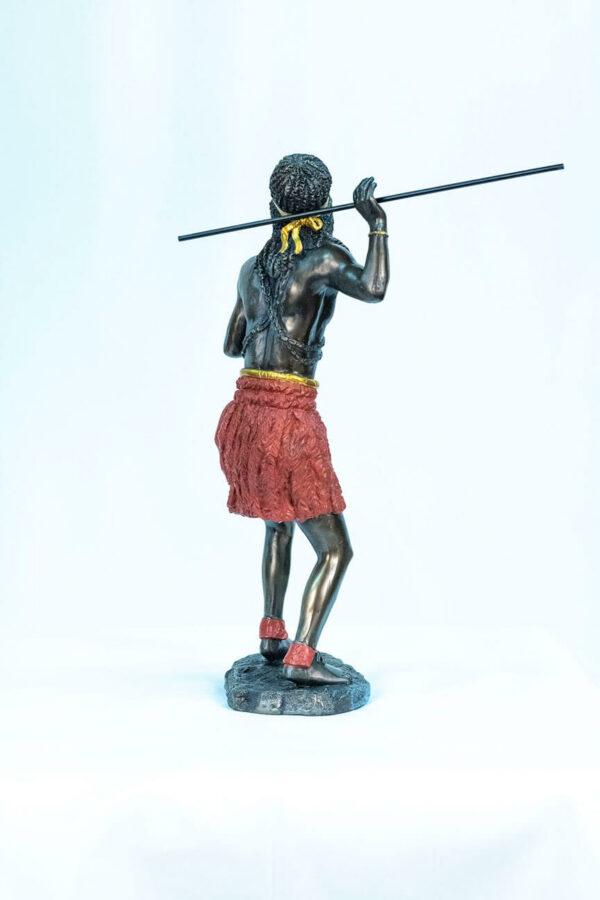 figurine, zulu male dancer, back