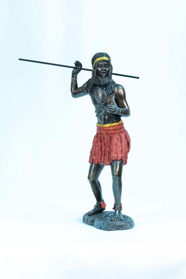 figurine, zulu male dancer, front