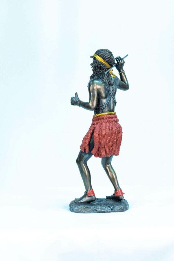 figurine, zulu male dancer, left
