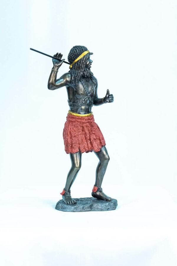 figurine, zulu male dancer, right