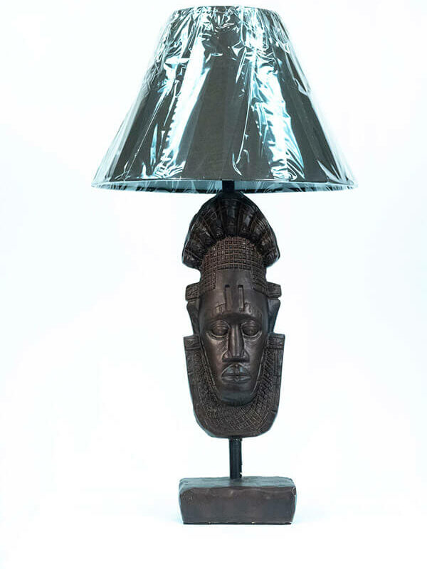 african mask lamp, front