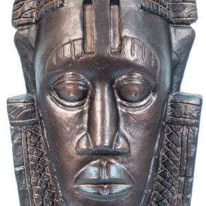 african mask lamp, closeup