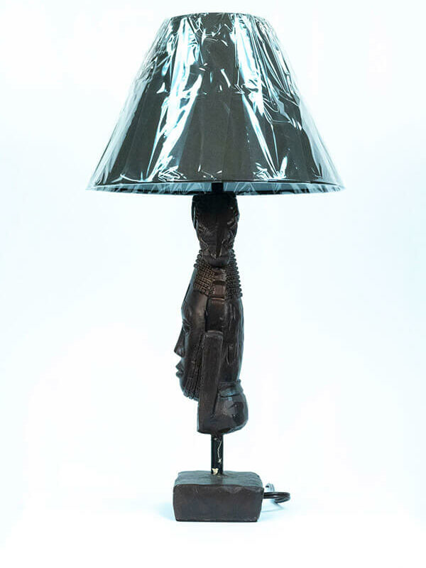 african mask lamp, left