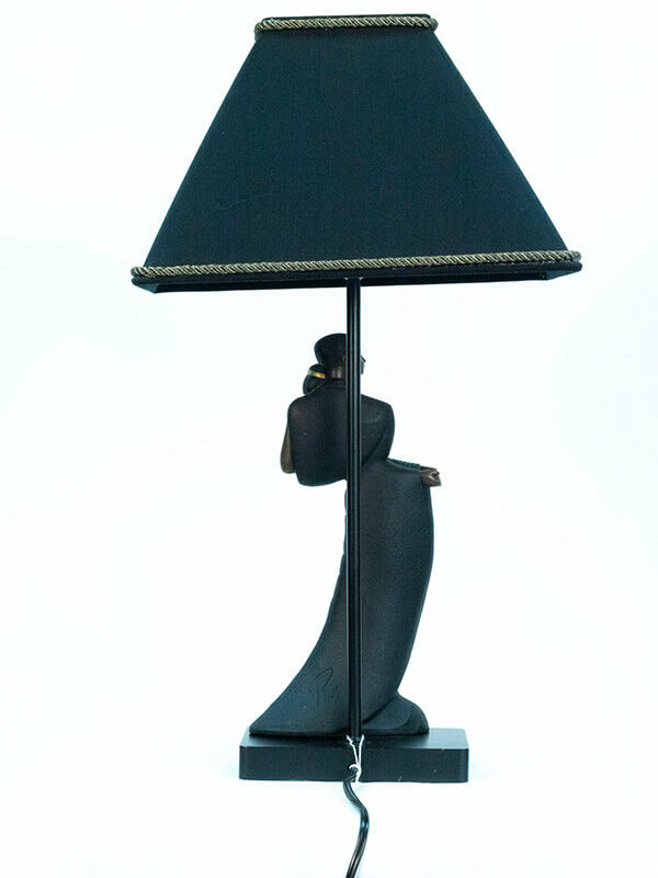 lamp with dancing couple base, back