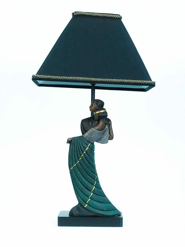 lamp with dancing couple base, front