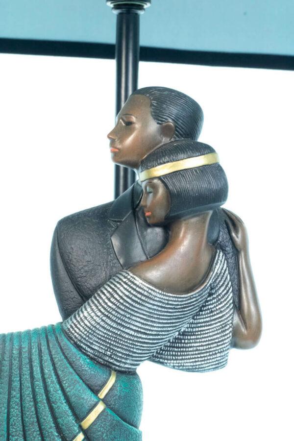 lamp with dancing couple base, closeup