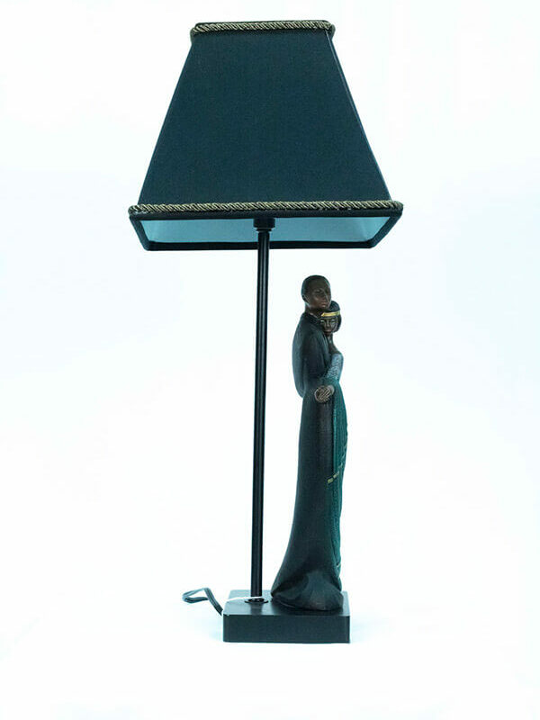 lamp with dancing couple base, side view2