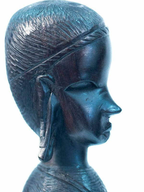 ebony maasai bust, closeup view2