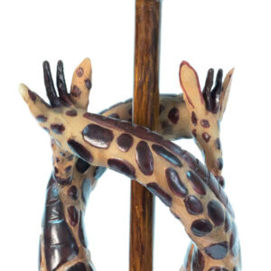 lamp with giraffe base, closeup