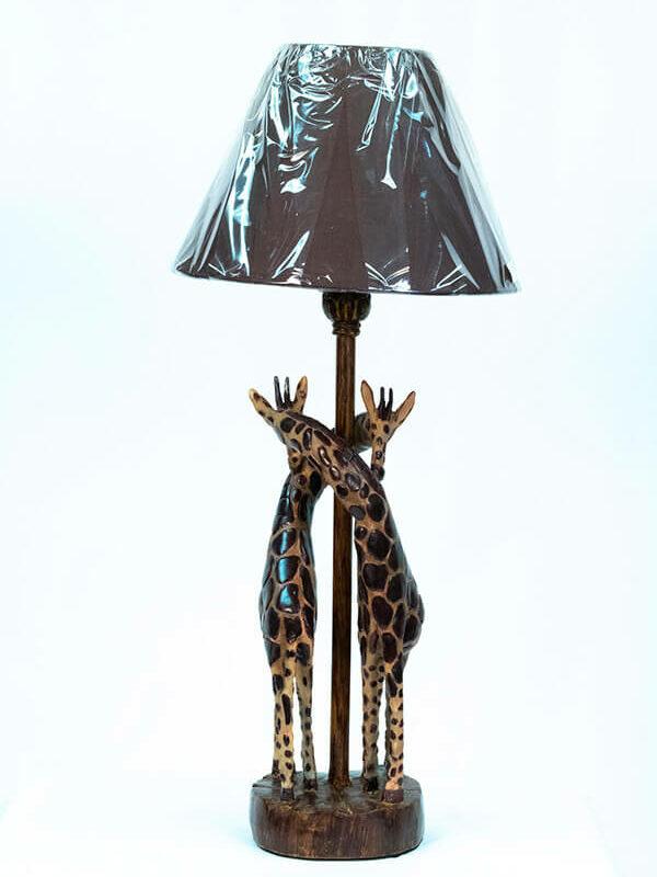 lamp with giraffe base, view1