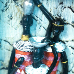 maasai family shadowbox, closeup