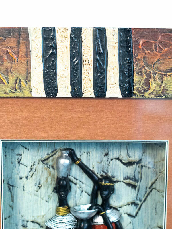 maasai family shadowbox, frame detail2