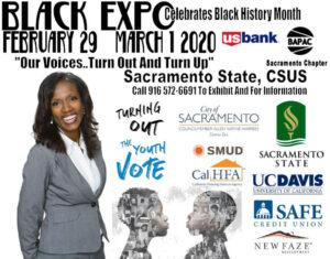 Annual Sacramento Black Expo - Feb 29 - Mar 1, 2020 @ Sacramento State, CSUS