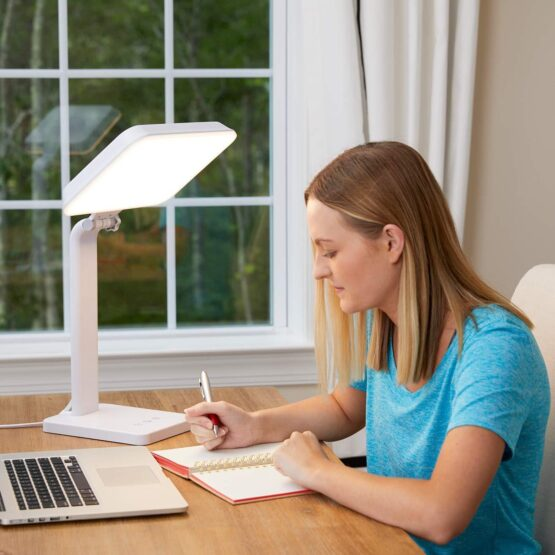 THERALITE AURA 10,000 LUX MOOD & ENERGY ENHANCING LIGHT THERAPY LAMP
