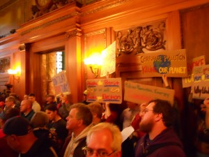 Biomass opponents gathering in the City Council chamber in 2011. (WMassP&I)
