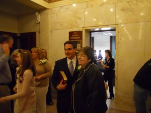 Mayor Sarno with Judge Hurley in Jan '12 (WMassP&I)