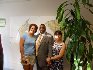 Councilor Edwards with his wife (right) and daughter in 2012. (WMassP&I)