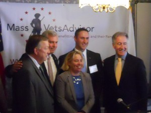 Cong. Neal (far left), in Pittsfield (WMassP&I)