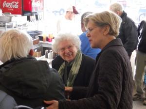 Warren with voters earlier this year (WMassP&I)