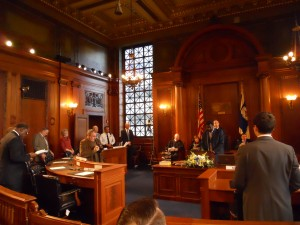 Councilors Filing into the Chamber Monday (WMassP&I)
