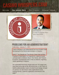 A Post on Holyoke's Casino follies, featuring P&ED Dir. Marcos Marrero (casinowhipsers.com via Google cache)