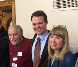 Eric Lesser center with Saul Finestone & Candy Glazer. (via Twitter/@EricLesser)