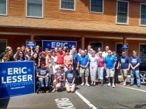 Lesser & volunteers on June 28, 2014 (WMassP&I)