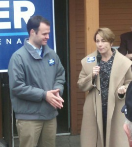 State Senator-elect Eric Lesser and Attorney General-elect Maura Healey last weekend. (WMassP&I)