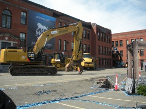 More than ground seems broken at MGM Springfield. (WMassP&I)