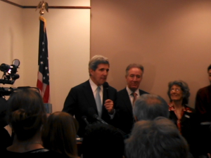 Secretary of State John Kerry with Cong. Richard Neal in 2013 (WMassP&I)