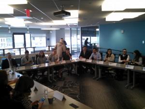 The Massachusetts Senate's first Millennial roundtable at TechSpring. (WMassP&I)