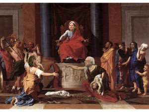 Her Judgement Cometh...& that right soon? (created via Nicholas Poussin painting & Google Image search)