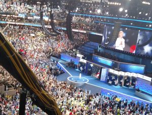 Sec. Hillary Clinton after her acceptance speech Philadelphia