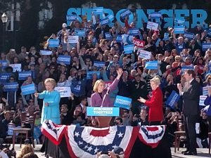 Hassan also Rises? Clinton and Warren were the draw, but Gov. Hassan, a US Senate candidate, seemed a star, too. (WMassP&I)