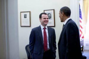Sen. Eric Lesser and President Obama in 2011. (via White House/Pete Souza)