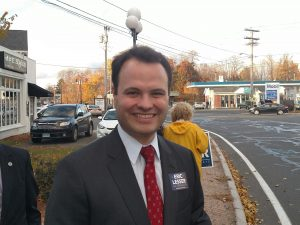 Baker put a lot of time into unseating Sen. Eric Lesser. The 31 year-old Dem prevailed by 12 points. (WMassP&I)