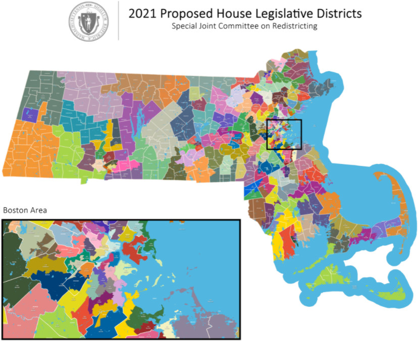 Proposed Massachusetts House map 2021