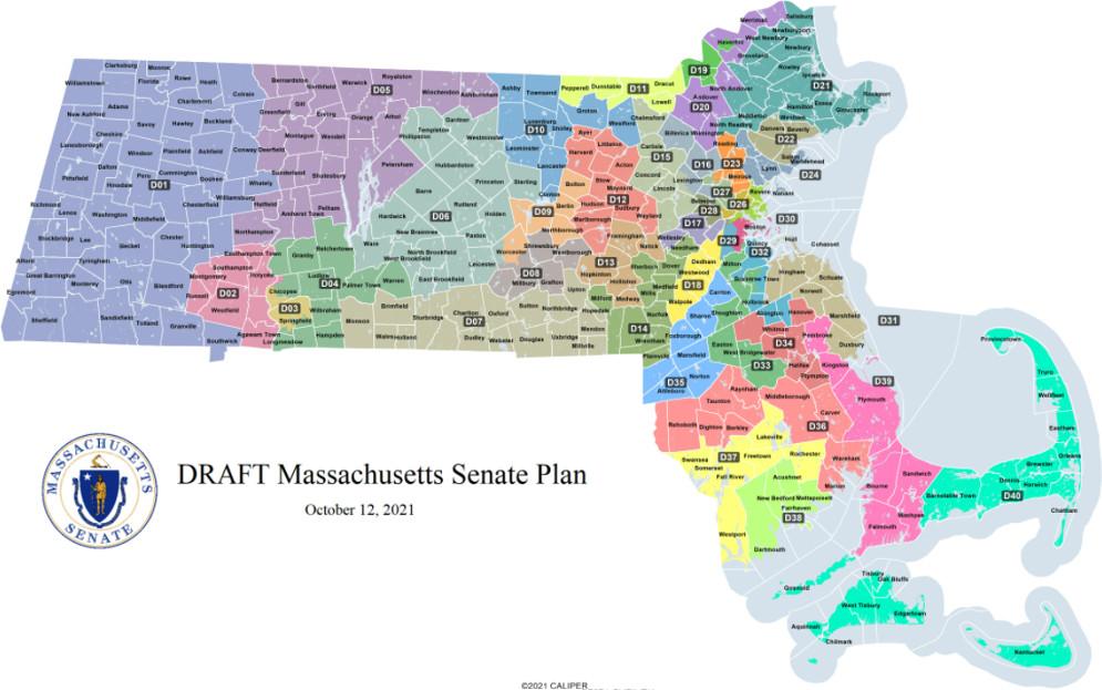 Proposed Massachusetts Senate map