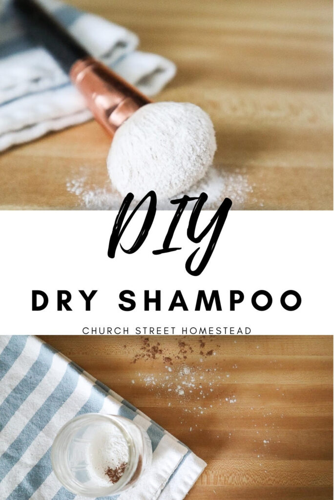 DIY Dry Shampoo Pin