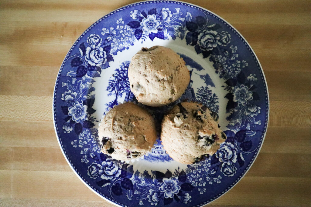 muffins on an antique plate