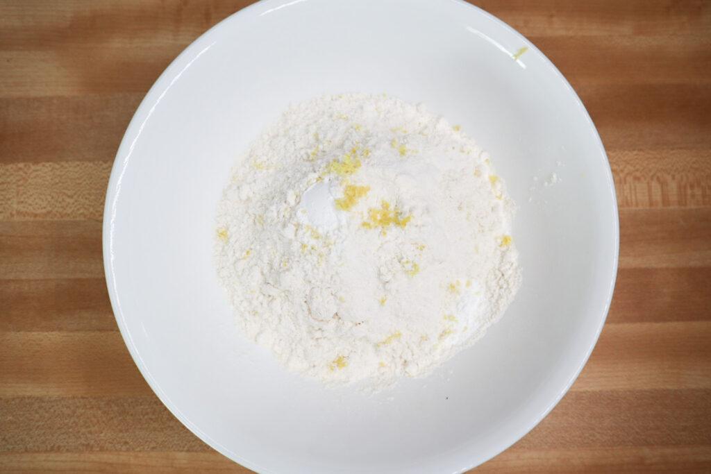 flour, baking powder, salt