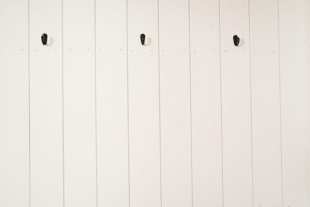 hooks on a coat closet