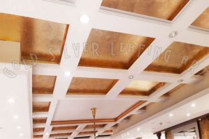 Copper-Leafing-on-Office-Ceiling