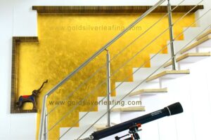 Gold Leafing on Wall